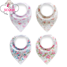 XCQGH 4PCS/lot Cotton Bib Baby Boy Girl Bibs Bandana Floral Infant Toddler Triangle Bibs Cotton Newborn Burp Cloth Saliva Towel(China)