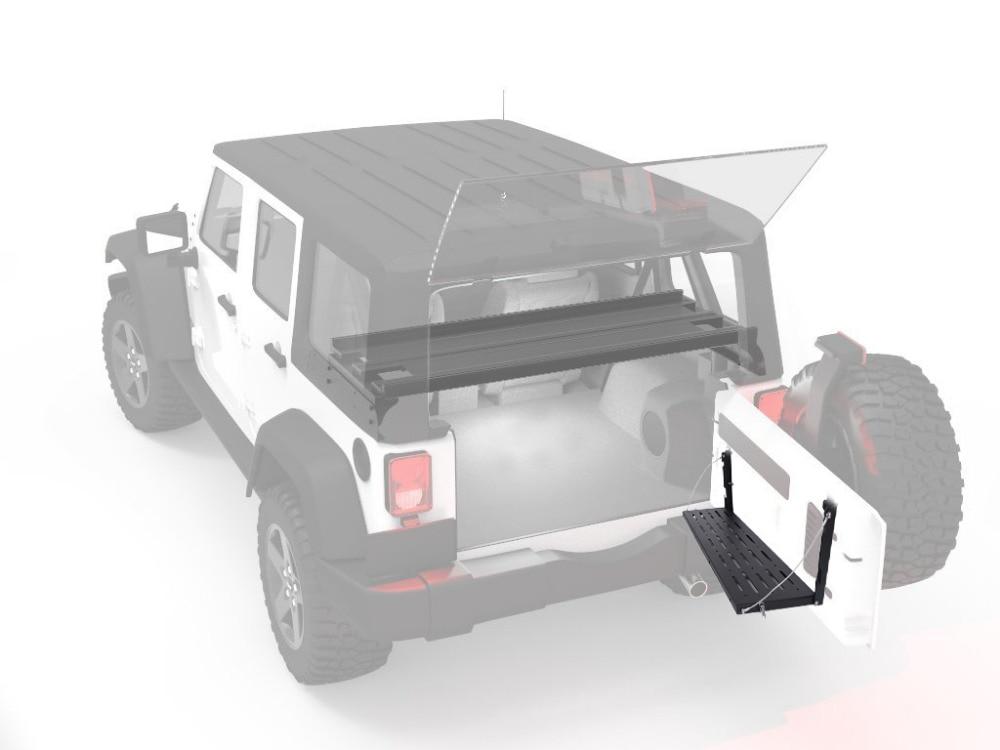 Për Jeep Wrangler JK 2007-2017 Raft raketash Transporti prej çeliku - Aksesorë të brendshëm të makinave - Foto 6