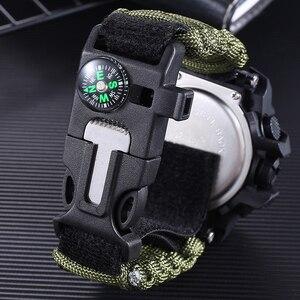 Image 3 - Addies ショックスポーツウォッチビッグダイヤルクォーツデジタル軍事防水男性腕時計男性時計スポーツメンズ腕時計コンパス