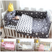 Baby Bedding Sets Fashion Cartoon Newborn Sheets+Bed Covers+pillowcase 3pcs Comfortable Infant Toddler Crib Bedding Bedsides