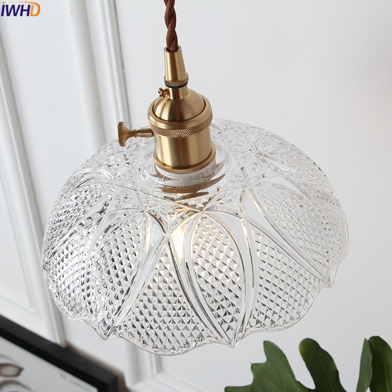 Image 5 - IWHD Nordic Copper Glass Pendant Light Fixtures Bedroom Living Room Loft Pendant Lights Hanging Lamp Luminaire Lighting-in Pendant Lights from Lights & Lighting