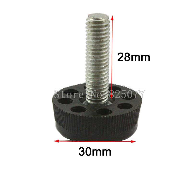 20 шт. черный M8x28mm винт 30 мм Регулируемая База мебель для ног Таблица регулировочные ножки Pad CP495