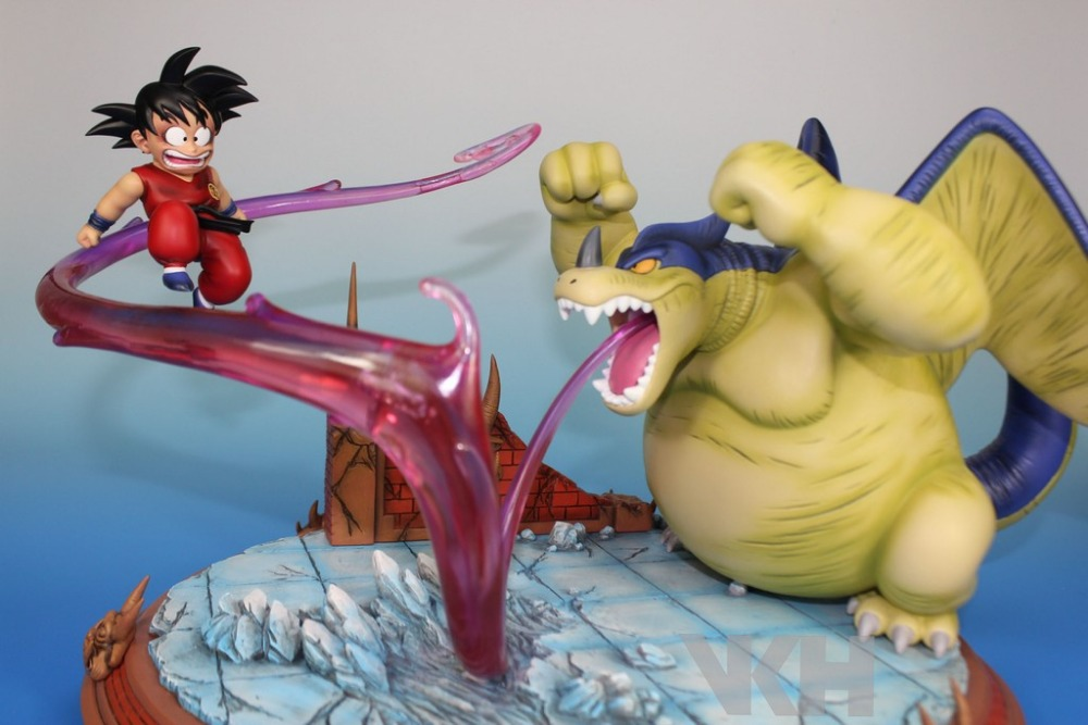 MODEL FANS INSTOCK Dragon Ball GK VKH Childhood Goku VS Geelong gk resin scene very rare action figure model fans dragon ball vkh 32cm goku vs piccolo gk resin statue figure toy for collection