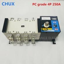 ATS 4P 3P двойной выключатель питания из поликарбоната 250A 220 V/230 V/380 V/440 V 4-полюсный 3-фазный автоматический переключатель ats