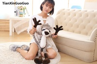 stuffed plush toy about 60cm lovely jungle tiger plush toy throw pillow birthday gift h0809