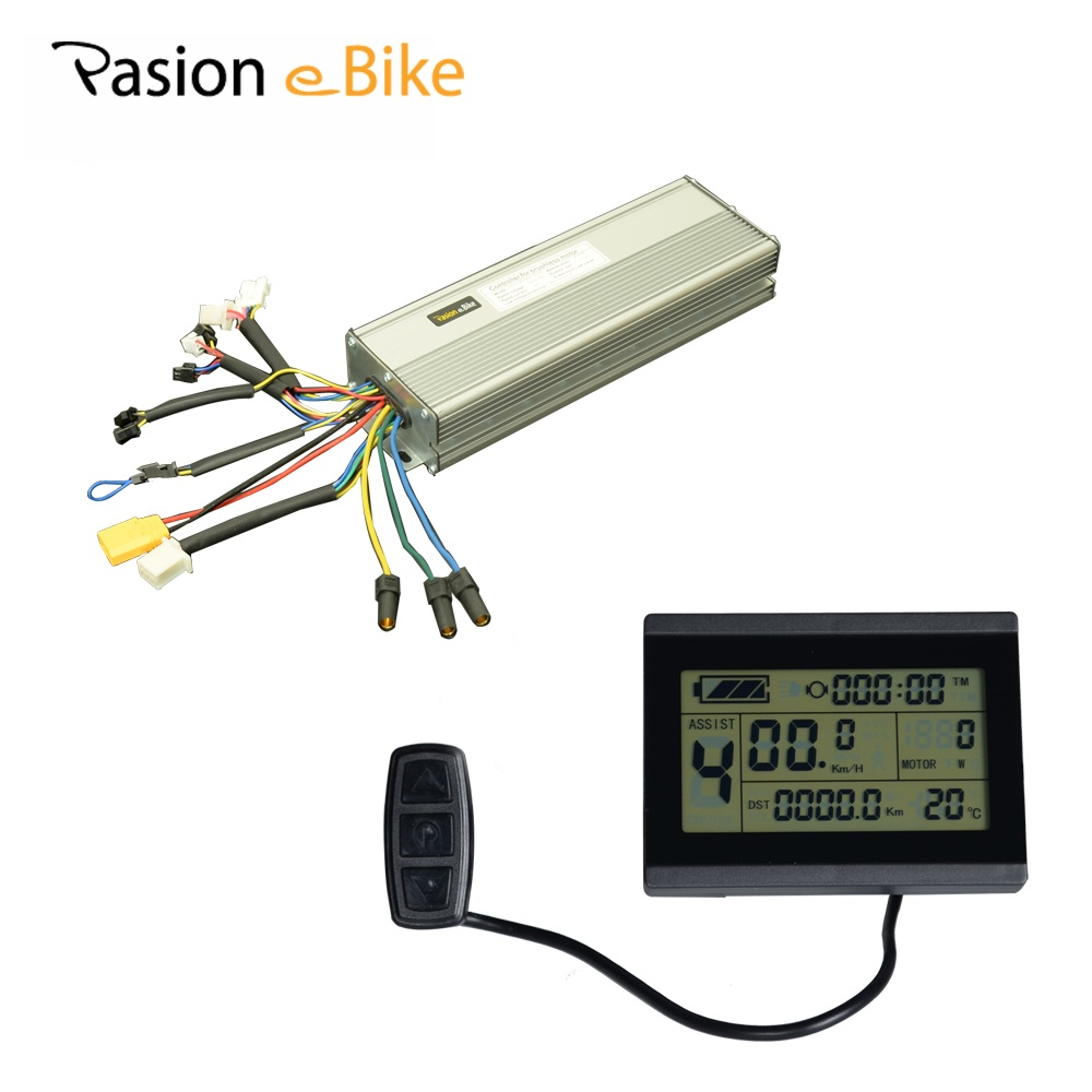PASION E BIKE 45A Controller 48V 18 MOSFET Brushless With LCD Display 1500W 2000W DC Sine Wave Electric Bicycle Controller