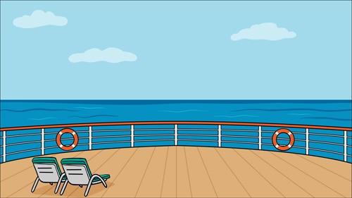 huayi cruises photography cartoon backdrop blue sea background