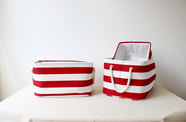Red 3 Layers Large Dirty Clothes Basket Laundry Foldable Hamper Storage Bag