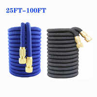 High Quality 25-100ft magic Expandable Garden Hose flexible Garden Hose High Pressure Hose Car Wash For Garden Watering Supplies