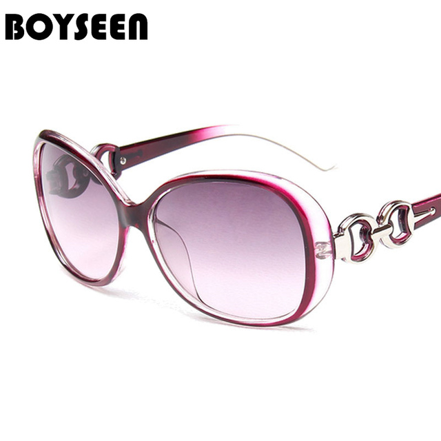 20c8031c3a70 BOYSEEN Hot Sale Fashion Sunglasses Women Classic Brand Designer Female Twin -Beams Coating Mirror Flat Panel Lens 9509