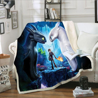 Toothless Light Fury How To Train Your Dragon 3 Plush Toy Kids Toys Printed Blanket Sofa Cover Blanket Cloak Night Fury Dragon