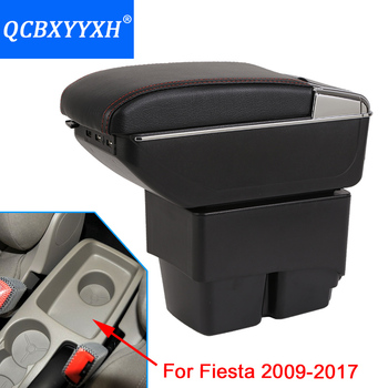 New Update 8th For Ford Fiesta 2009-2017 Armrest Box Hand Switch Gear Center Storage Box 3 Colors Products Accessory Car-styling