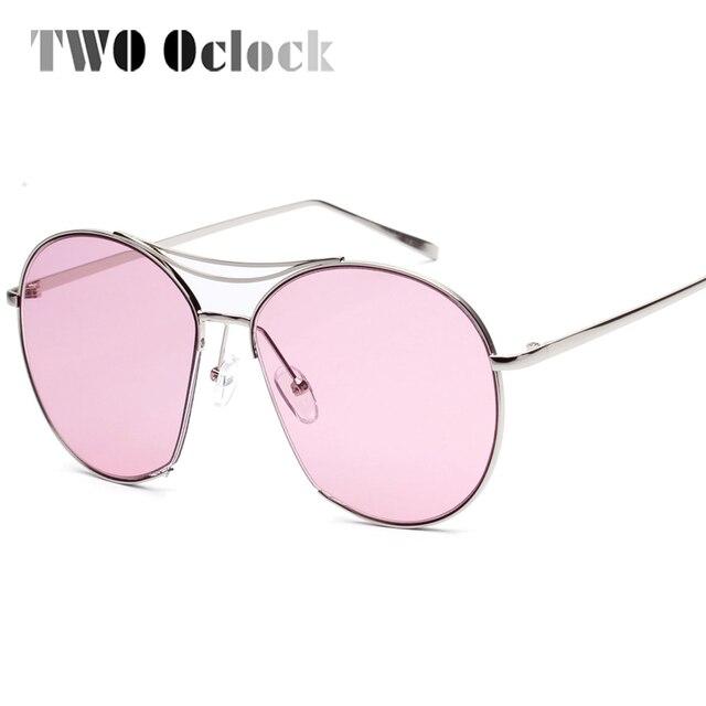 b74ad0fdb59e8b DEUX Oclock Big Star lunettes de Soleil Femmes Oversize Plat Haut De  Bonbons De Couleur de