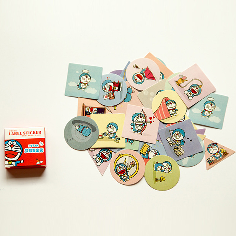 40pcs/pack Cute Robot Cat Memo Pad Stickers Posted It Kawaii Planner Scrapbooking Stationery Sticker Escolar School Supplies