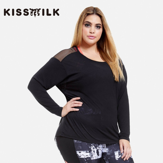 plus size western style fashion loose sexy patchwork hollow out long sleeve  3XL-7XL black woman s Casual T-Shirt 8a719b05c08a