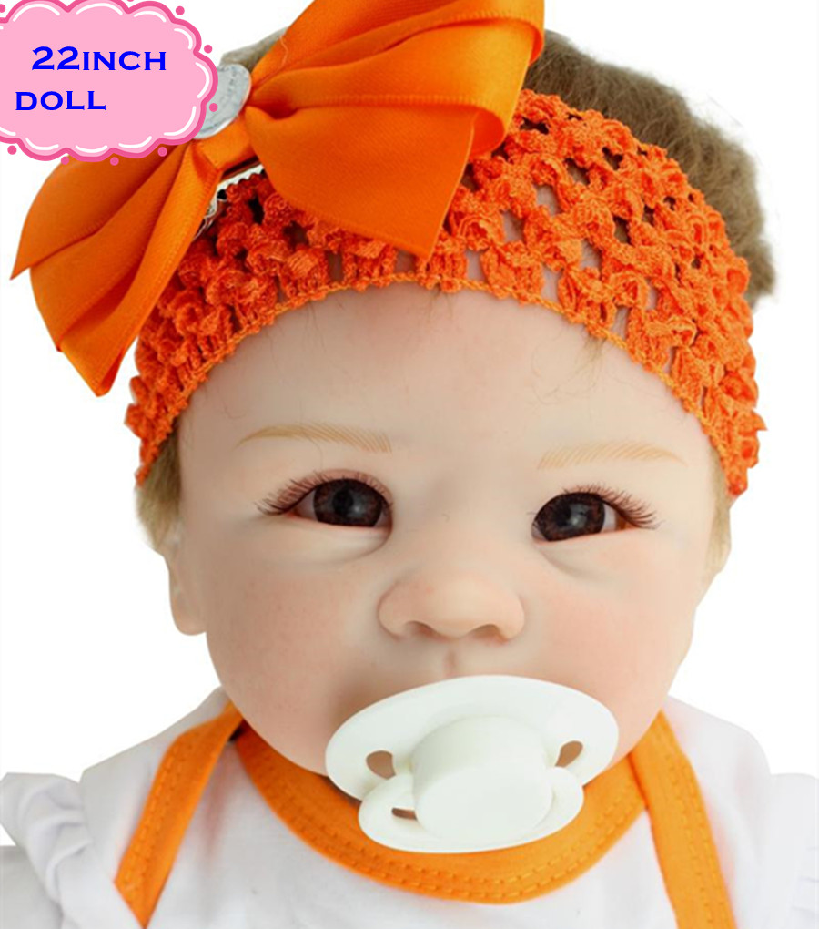 High Quality Real Silicone Baby Dolls Of NPK Dolls Brand About 22inch Safe Feelgood Reborn Dolls Babies Brinquedos For Children free shipping hot sale real silicon baby dolls 55cm 22inch npk brand lifelike lovely reborn dolls babies toys for children gift