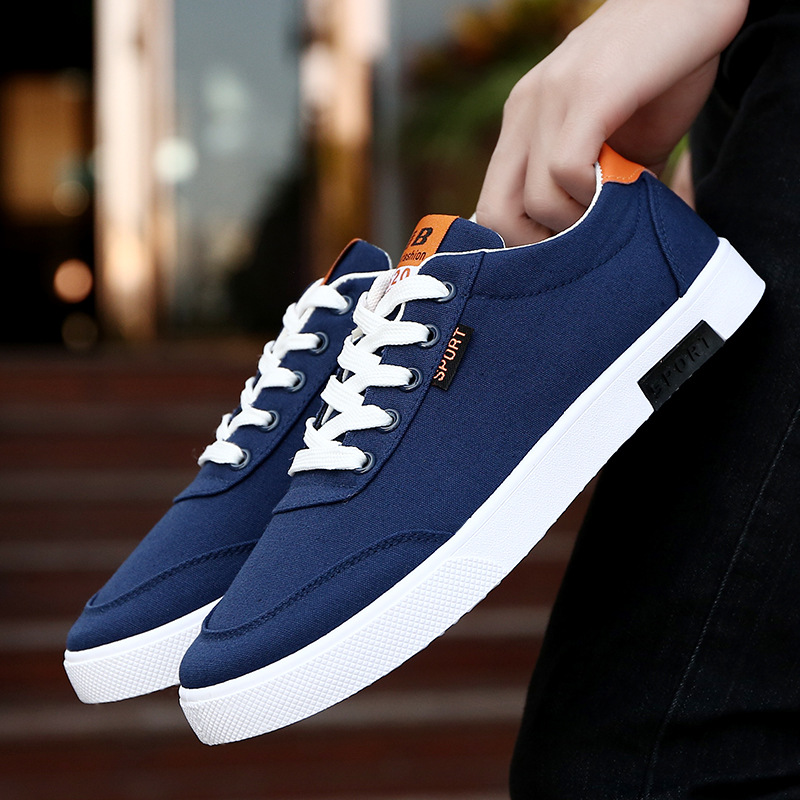 White Canvas Shoes Flat Ventilation Mens Student Sports Shoes Oxford Vogue Skateboarding Shoes Breathable Trend Arder Shoe