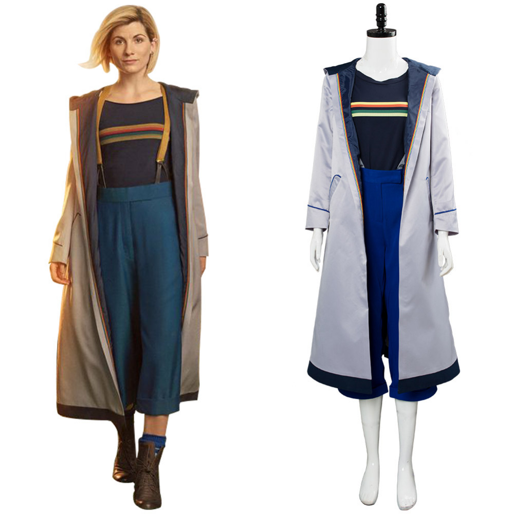 Doctor Who Season 13 Doctor Cosplay Costume Jodie Whittaker Coat Outwear Trench Doctor Who 13th Women Doctor Hallowwen Costume