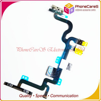 DHL Free Shipping For IPhone 7G Volume Power On Off Button Flex Cable Replacement Parts 100