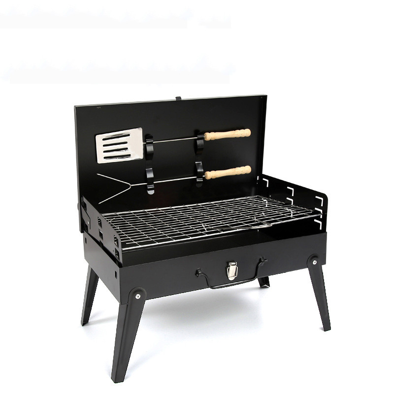 ФОТО Outdoor Folding Barbecue Grill Portable Camping picnic Patio Garden Stainless Steel charcoal furnace BBQ grills stove tools