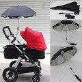 Carrinhos de guarda-chuva De sol de Nylon Carrinho de Bebê dossel UV 360 Graus Direção Ajustável Acessórios da bicicleta
