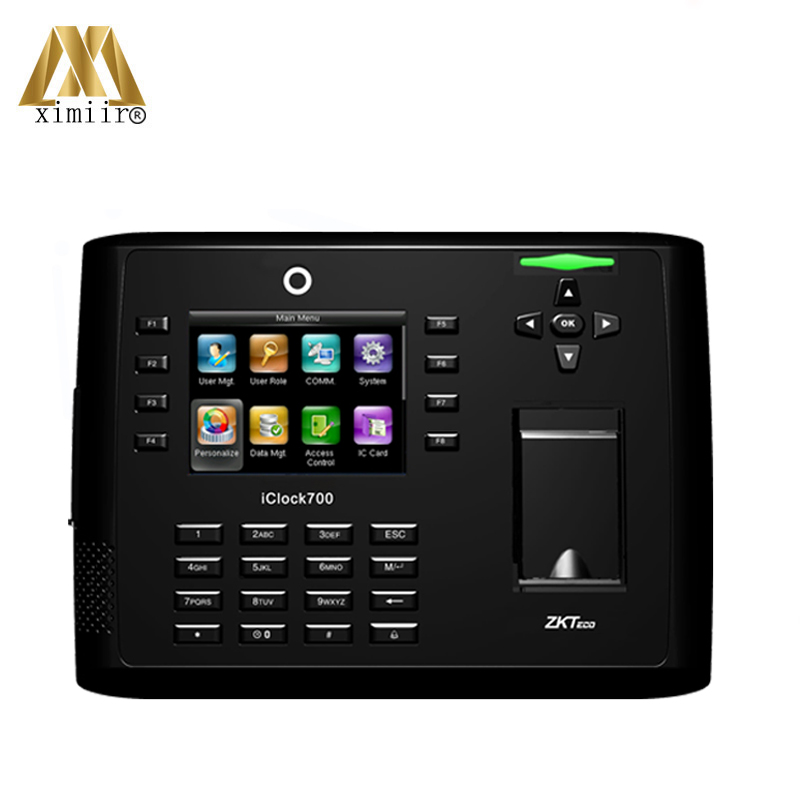 TCP/IP Webserver With WiFi Iclock700 Standalone Linux System Fingerprint Time Attendance And Access Controller
