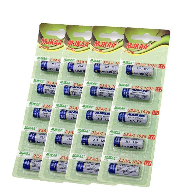 Wholesale 20pcs/lot 4card New 12V 23A Super Alkalin Battery 23AGP MN21 V23GA VR22 A23 L1028 Dry Batteries