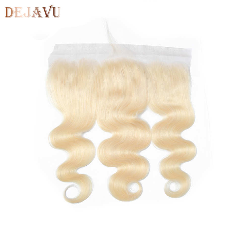 Dejavu 613 Ombre Lace Frontal Closure Brazilian Body Wave Hair 13X4 Lace Frontal Ear To Ear 100% Human Remy With Baby  Hair