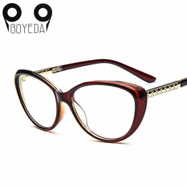 13197d74a8f ... BOYEDA New Brand Female Grade Optical Women Glasses Spectacle Frame Cat Eye  Eyeglasses Anti-fatigue ...
