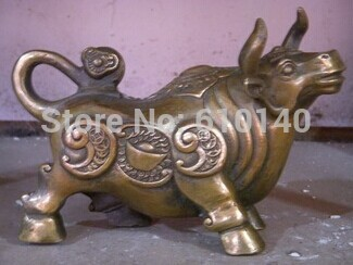 Chinese lucky bull bronze statue|statue|statue bronze|  - title=