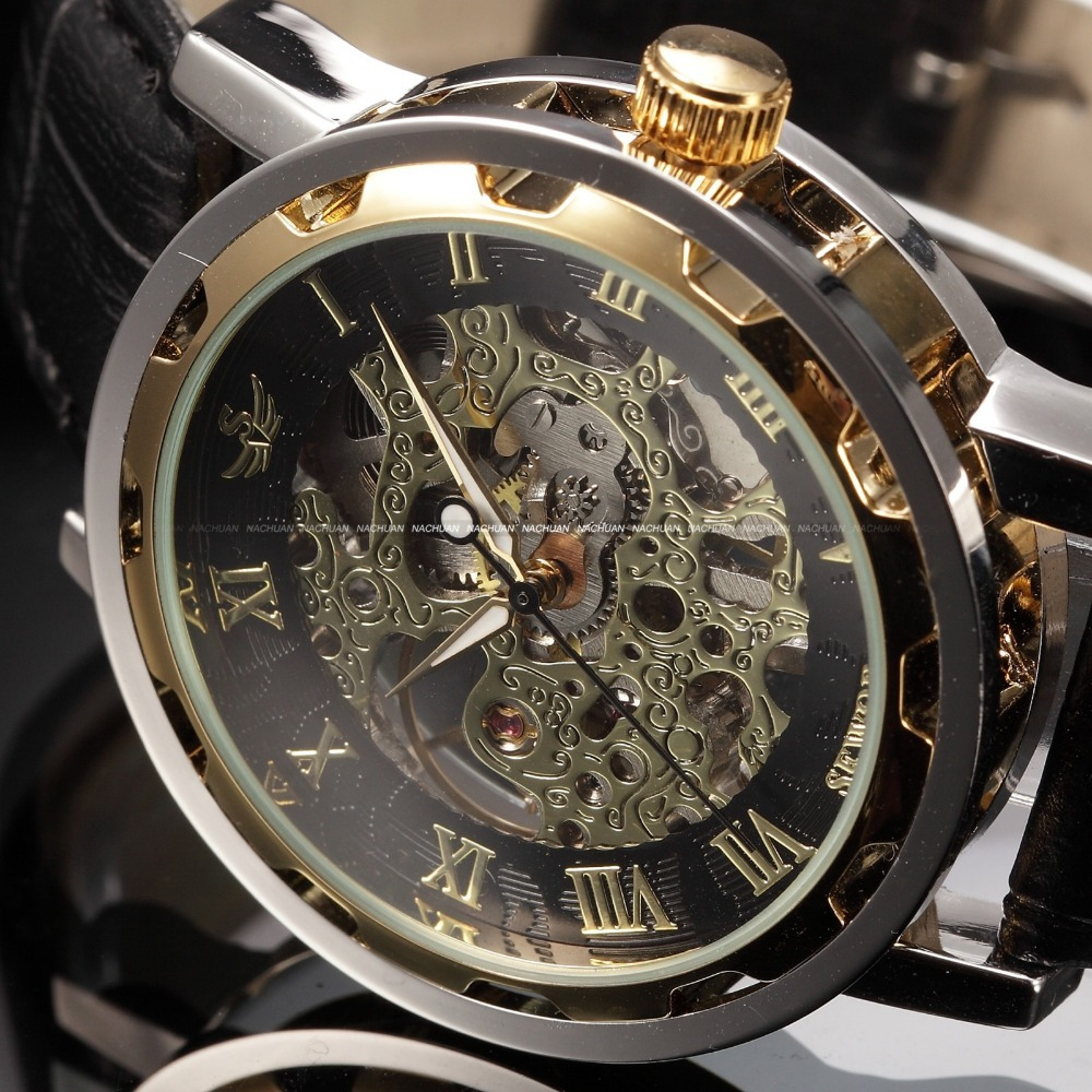 aliexpress com buy 2017 sewor wrist watches for men black aliexpress com buy 2017 sewor wrist watches for men black skeleton mechanical watch mens leather business fashion wristwatch relogio masculino from