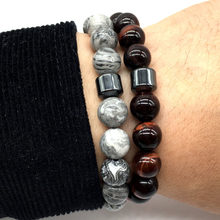 New Fashion Charm Bracelet Simple 6 Style Bead Stone CylinderBracelet For Men Women Jewelry Gift pulsera hombres(China)