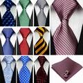 """(4 """"/10 cm) amplios Lazos para Los Hombres de Rayas Sólido Corbata de Seda A Cuadros Pañuelo Gemelos Conjuntos Corbata Rojo Negro Azul Hombres Gravatas c"""