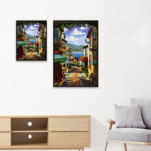 ZOOYA 5D DIY diamond painting cross stitch kit seaside town new embroidery 2019 landscape mosaic home decor K103