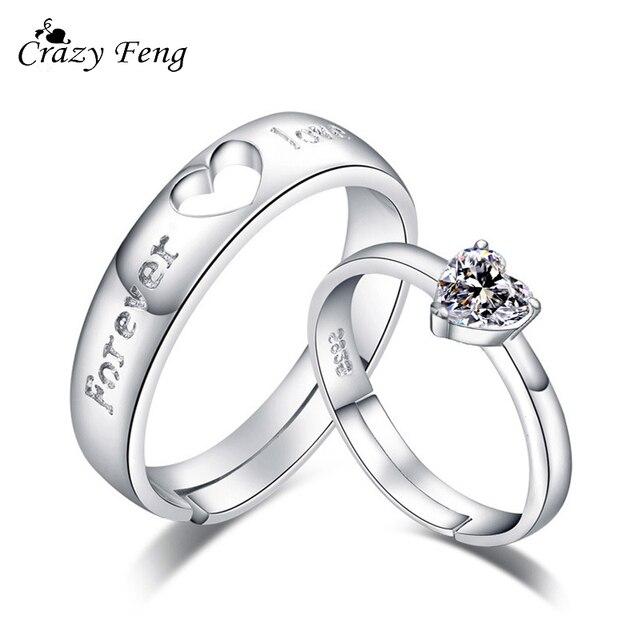 Famoso Pazzo Feng 1 Paia Forever Love Wedding Anelli di Fidanzamento Per  MK08