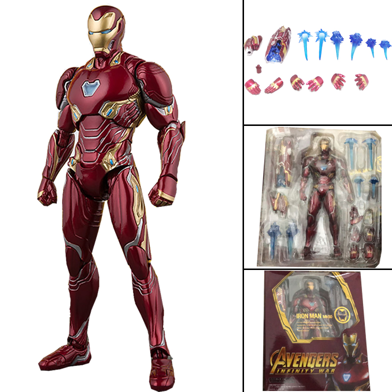 6inch SHF Movie Avengers Infinity War Iron Man Mk50 Ironman Mark50 Action Figure Model Toy Doll Gift