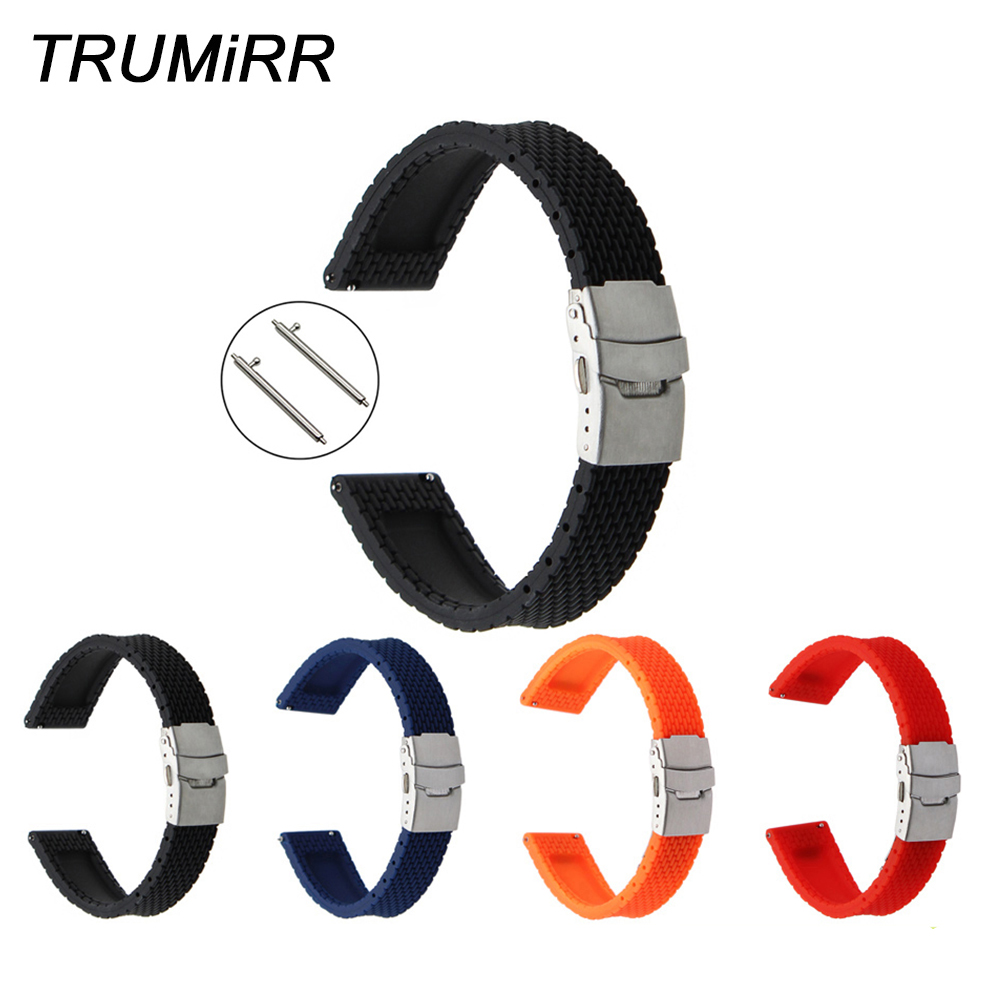 Quick Release Silicone Rubber Watchband for Casio Edifice Lineage Watch Band Wrist Strap 17mm 18mm 19mm 20mm 21mm 22mm 23mm 24mm 1 8mm stainless steel quick release pin 12mm 14mm 16mm 17mm 18mm 19mm 20mm 21mm 22mm 23mm 24mm repair spring bar for watch band