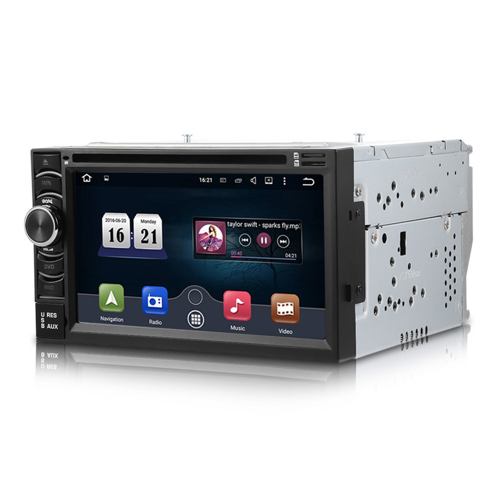 6.5 дюймов 6116 г dvd плеер автомобиля WinCE 6.0 2 DIN Сенсорный экран Bluetooth GPS навигации Поддержка функция RDS