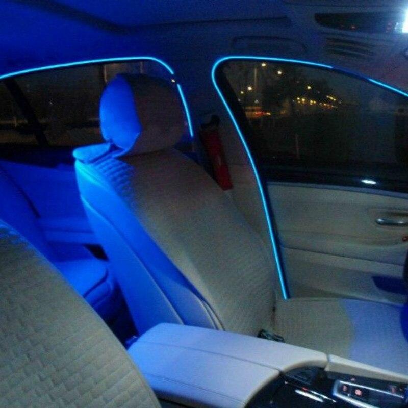 JURUS Nuovo 2 pz 1 m/2 m/3 metri Flessibile Luce Al Neon di Incandescenza El Salone Filo Piatto Striscia Luci Led Per Auto Auto-styling Freeshipping