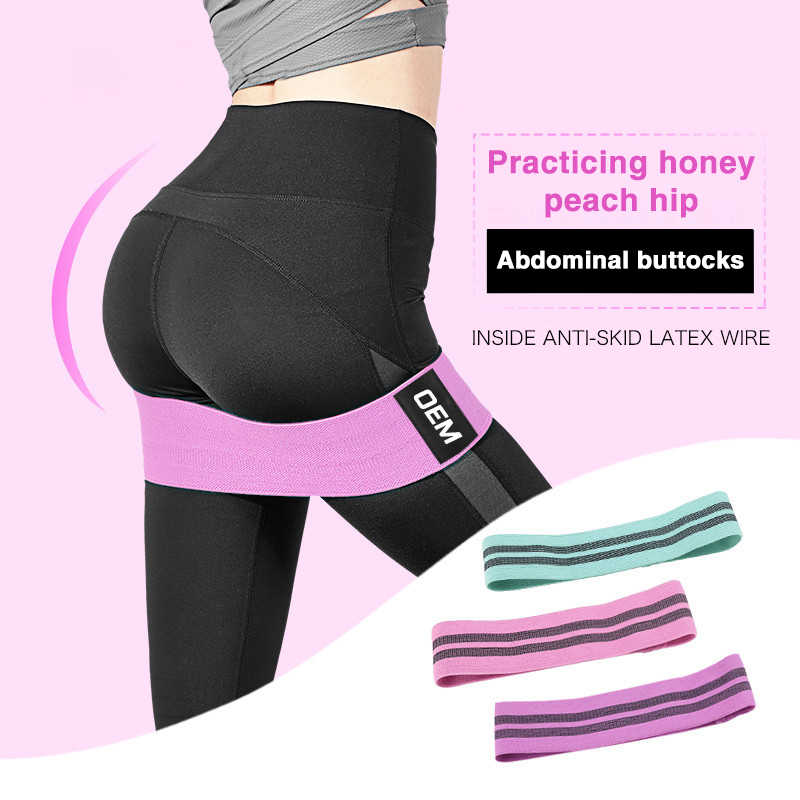 Hip Wide Resistance Bands Loop Circle Exercise Workout Fitness Yoga Booty