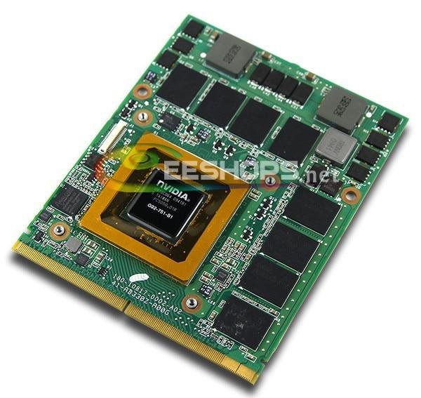 New for Dell Alienware M17X M15X R3 R2 R1 R4 Laptop nVidia Geforce GTX 260M GTX260M DDR3 1GB MXM Graphics Video Card Drive Case