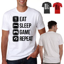 mens eat sleep game repeat ideal boyfriend husband offensive rude t sahirtPrinted Summer Style Tees Male Harajuku Top Fitness