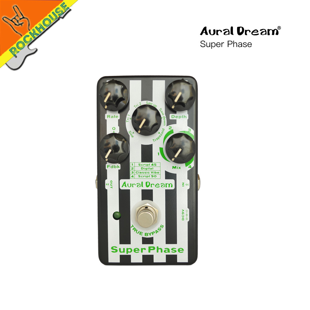 Auraldream Phaser Guitar Effect Pedal Digital Phaser Guitar Pedal 6 Phaser models Analog sound True Bypass Free Shipping mooer ninety orange phaser guitar effect pedal micro analog effects true bypass with free connector and footswitch topper