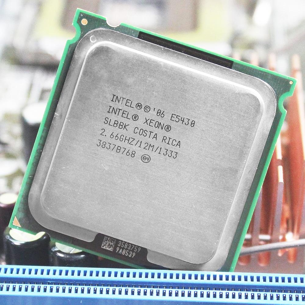INTEL XEON E5430 CPU INTEL E5430 PROCESSEUR quad core 4 core 2.67 MHZ LeveL2 12 M Travail sur 775 carte mère