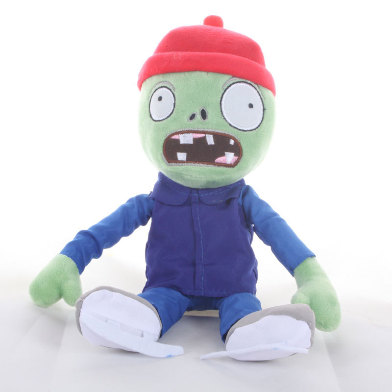 Newest 30cm PVZ Plant Vs Zombies Plush Toys Ice Skating Zombie Plush Toy Dolls For Kids Gift new arrival 30cm plants vs zombies pvz 2 chicken wrangler zombie plush toys soft stuffed toys doll for kids children xmas gift