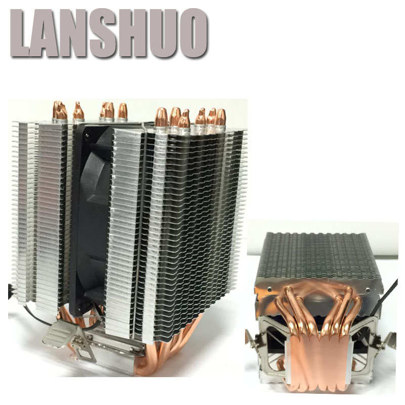 LANSHUO AMD Intel CPU Processor Cooling Fan Cooler Fan heat sink Fan Processor Cooling Fans 775 1155 1150 1366 2011 pcooler s90f 10cm 4 pin pwm cooling fan 4 copper heat pipes led cpu cooler cooling fan heat sink for intel lga775 for amd am2