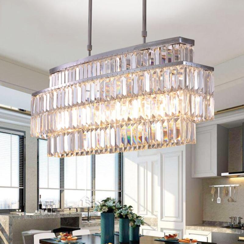 Jmmxiuz New Rectangular Pendant Lights Modern Lamp Ac110v: Jmmxiuz Modern Crystal Chandelier For Dining Room