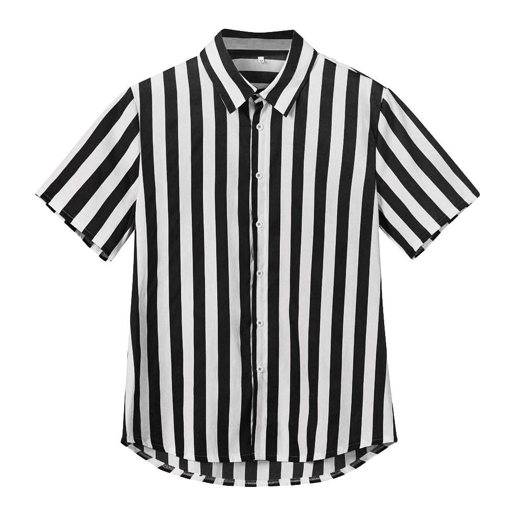 Womail 2019 New Arrival Men's Luxury Stylish Casual Men's Baggy Beach Hawaiian Print Short Sleeve Button Retro Shirt Tops Blouse