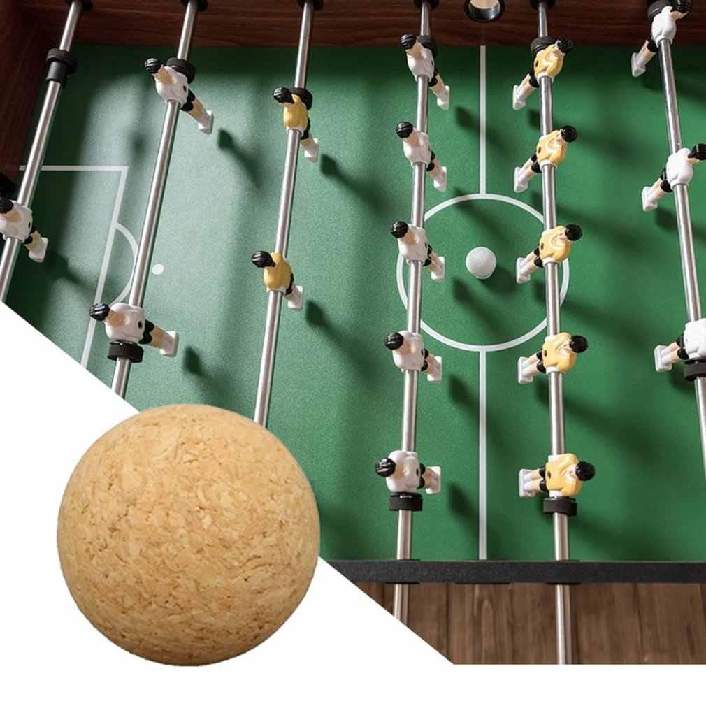 36mm Cortiça Madeira Maciça de Futebol Bola De Futebol De Mesa Futebol Fussball Pé Do Bebê Pé Crianças Brinquedo