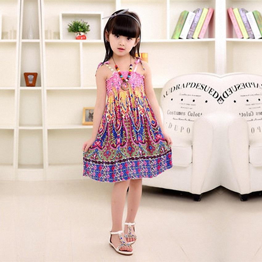 Belababy-Summer-Bohemian-Beach-Girls-Dress-With-Beading-Necklace-Sundress-Floral-Sling-Dress-For-Girl-Vestido-Infantil-1
